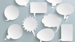 Sprechblasen Positive Kommunikation